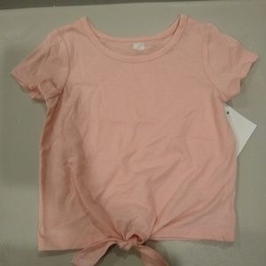 Other - Girls pink t-shirt with middle tie